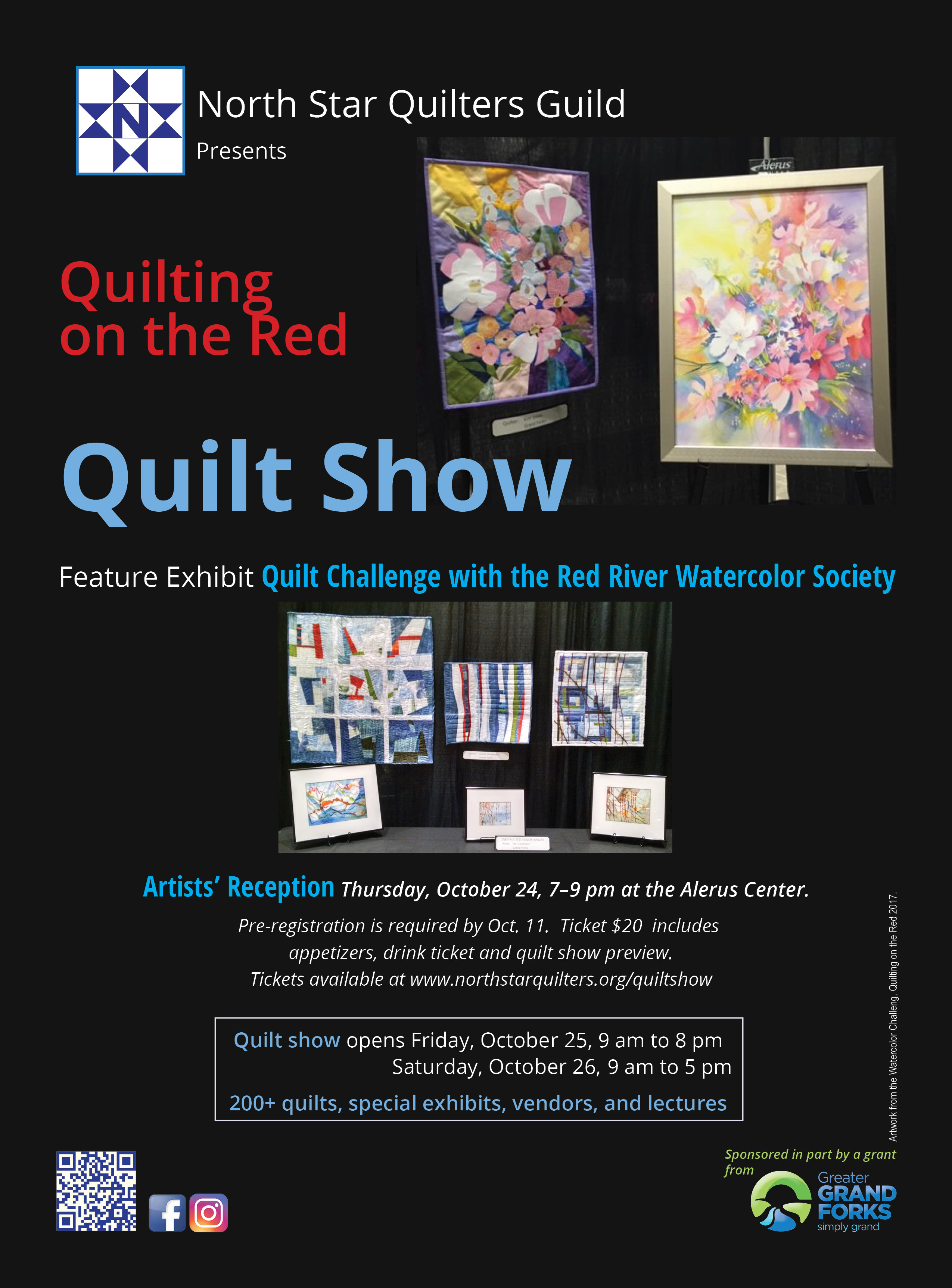 Quilting on the Red 2019 Watercolor Sequel Artists Reception