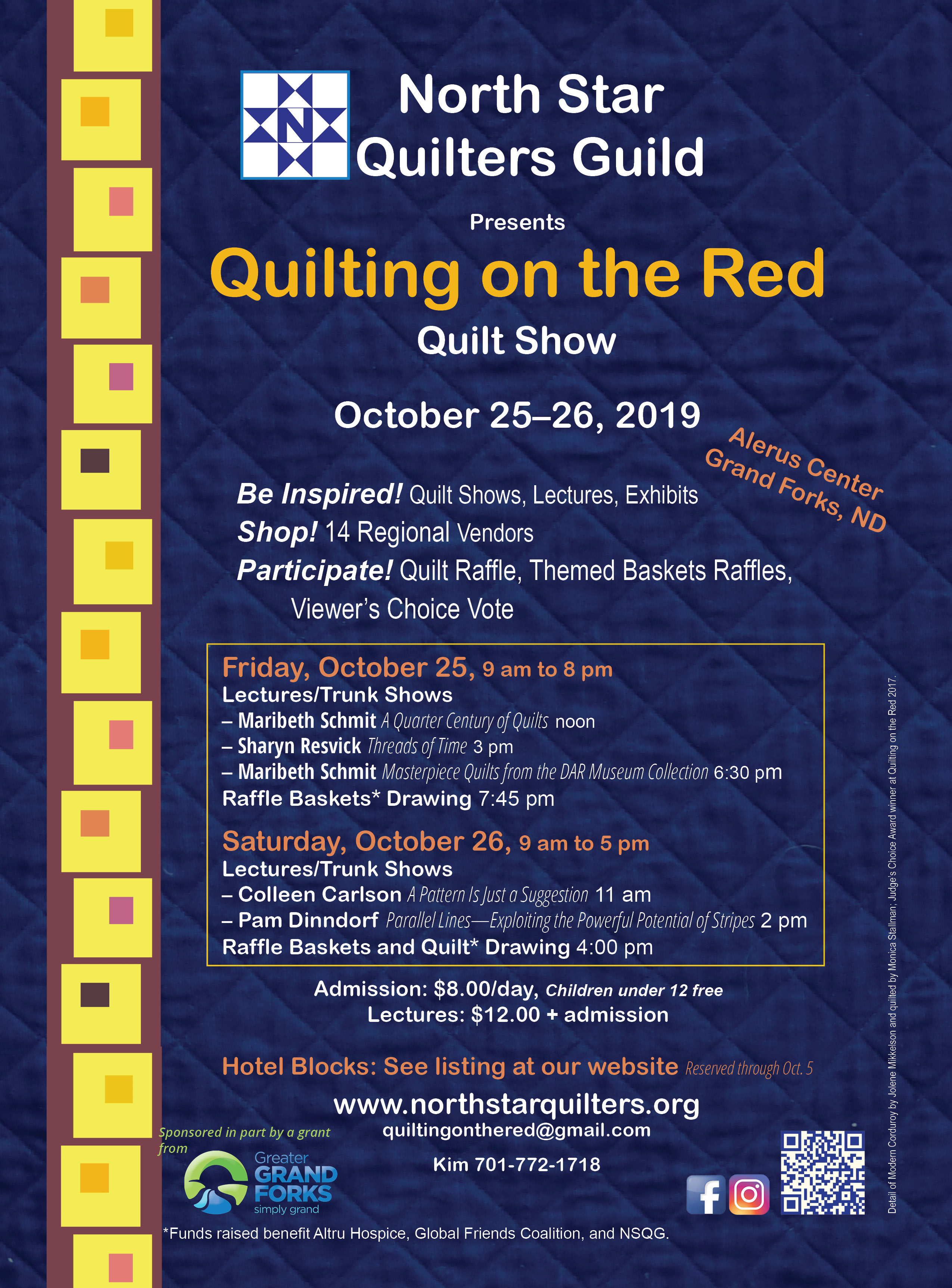 Quilting on the Red 2019 is October 24, 25, 26